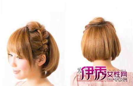 简易短头发怎么扎好看方法 轻松百变造型2014/1/15 11:55:37 不仅是长图片