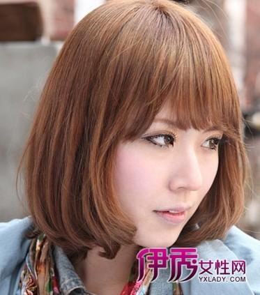 【女短发烫发发型图片】2014女人短发烫发最新发型